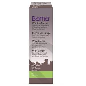Bama Wax Cream Tube for waxed and oiled leathers 50ml